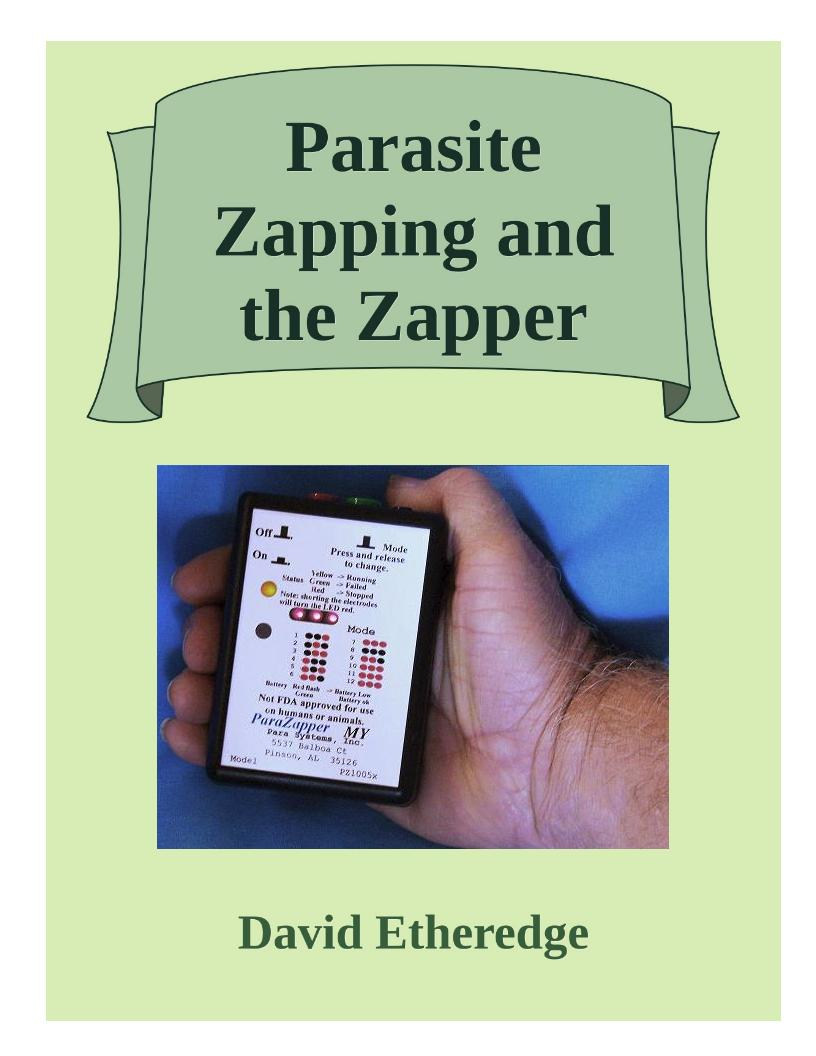ParaZapper instruction manual.